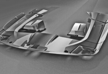 Estella Carbonabdeckung Motor 8-teilig | Mercedes SLS AMG
